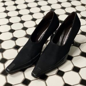 Donald J. Pliner pointed classic black booties